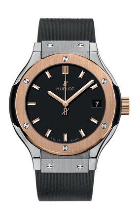 Женские часы classic fusion titanium king gold HUBLOT черного цвета, арт. 581.NO.1181.RX   Фото 1