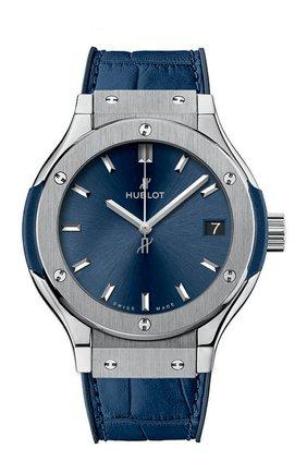 Женские часы classic fusion blue titanium HUBLOT синего цвета, арт. 581.NX.7170.LR | Фото 1