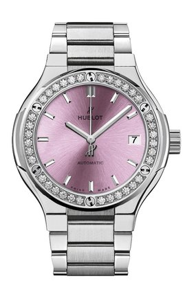 Женские часы classic fusion titanium pink bracelet HUBLOT розового цвета, арт. 585.NX.891P.NX.1204 | Фото 1