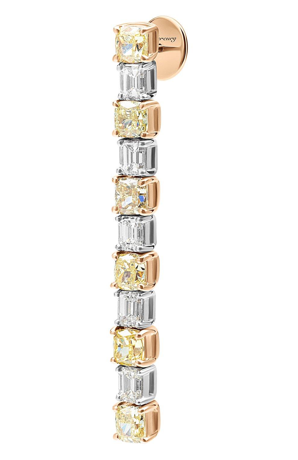Женские серьги MERCURY бесцветного цвета, арт. ME24108/WYG/CUBD | Фото 2