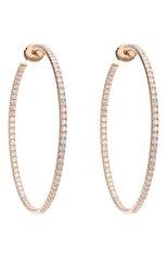 Женские серьги MERCURY бесцветного цвета, арт. ME25446/RG/HP2.45   Фото 1 (Материал сплава: Розовое золото; Драгоценные камни: Бриллианты)