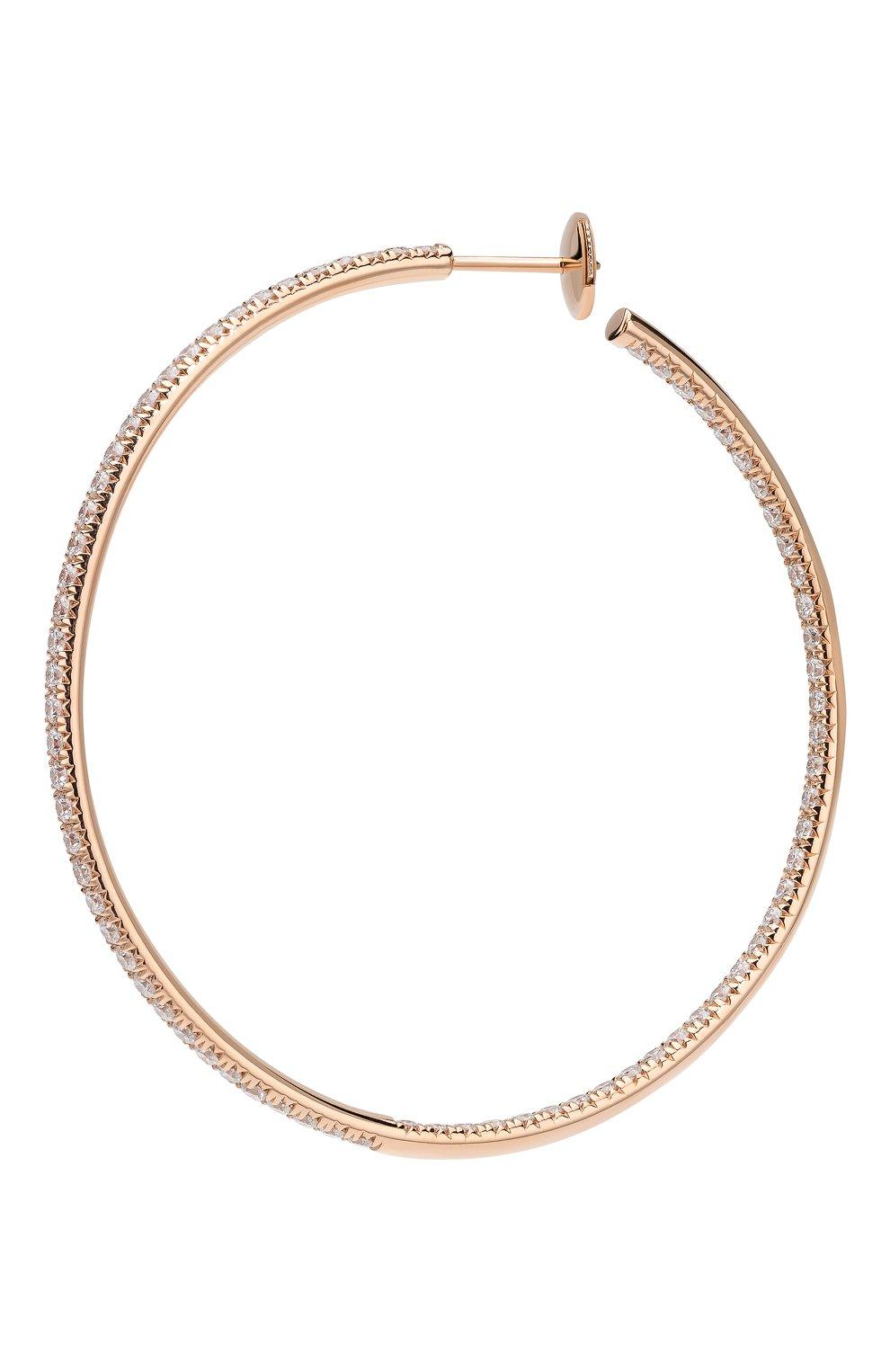 Женские серьги MERCURY бесцветного цвета, арт. ME25446/RG/HP2.45   Фото 2 (Драгоценные камни: Бриллианты; Материал сплава: Розовое золото)