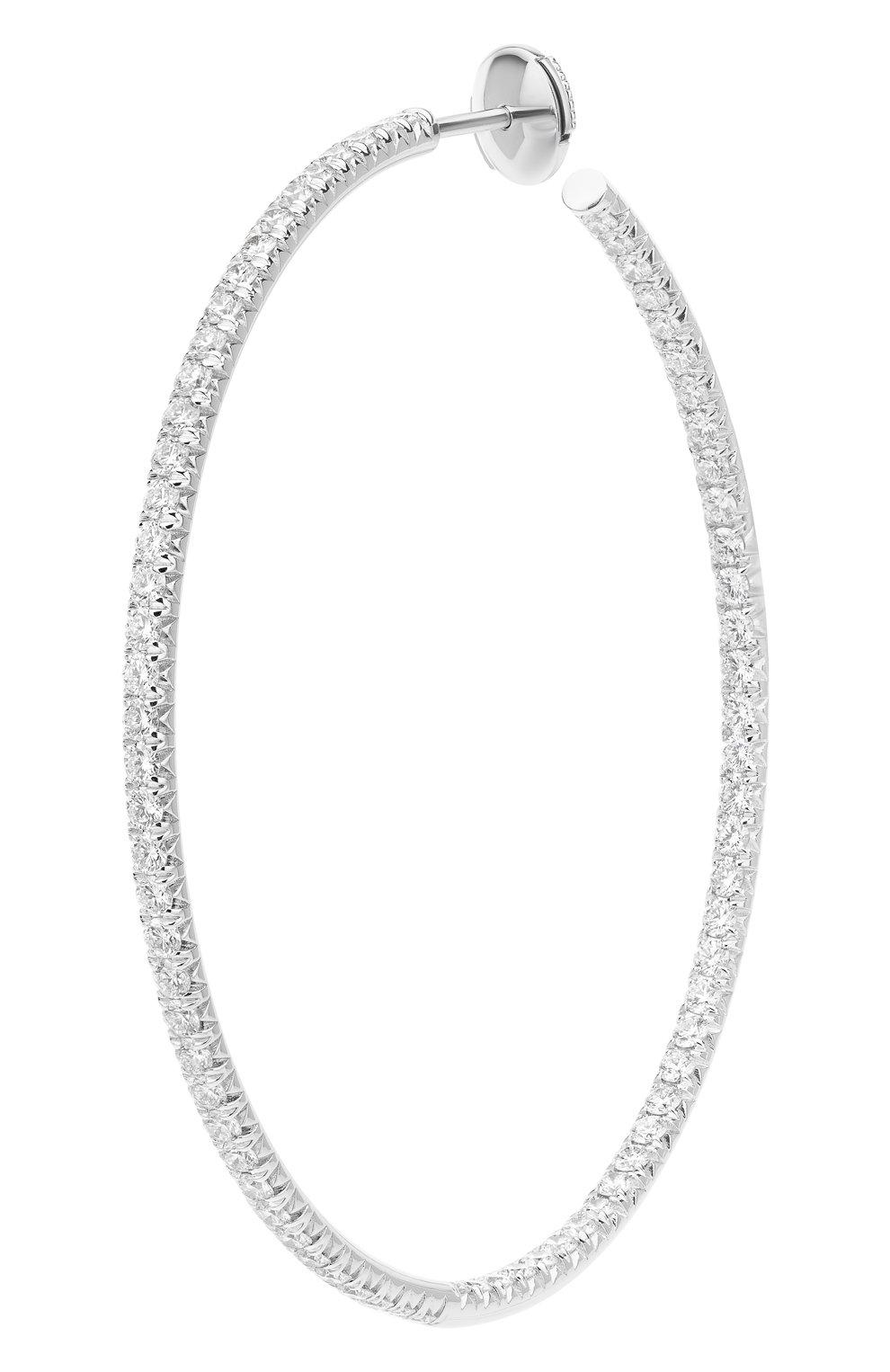Женские серьги MERCURY бесцветного цвета, арт. ME25446/WG/HP2.45   Фото 2 (Материал сплава: Белое золото; Драгоценные камни: Бриллианты)