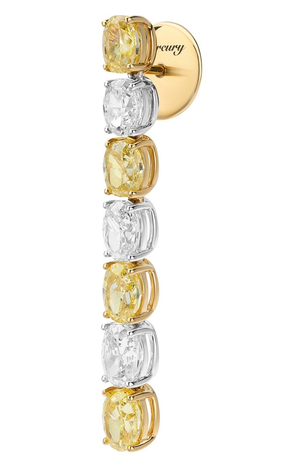 Женские серьги MERCURY бесцветного цвета, арт. ME25853/WYG/OV   Фото 2