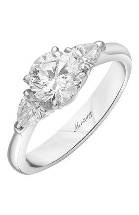 Женские кольцо MERCURY бесцветного цвета, арт. MR100WRDP | Фото 1 (Материал сплава: Белое золото; Драгоценные камни: Бриллианты)