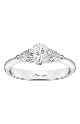 Женские кольцо MERCURY бесцветного цвета, арт. MR100WRDP | Фото 2 (Материал сплава: Белое золото; Драгоценные камни: Бриллианты)