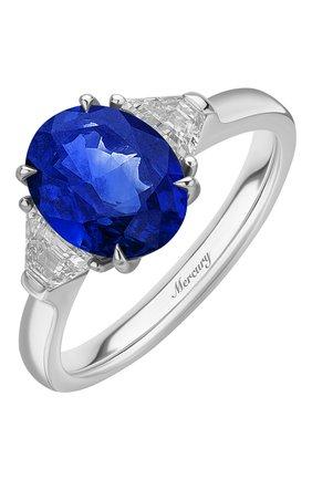 Женские кольцо MERCURY бесцветного цвета, арт. MR23365WSB   Фото 1 (Материал сплава: Белое золото; Драгоценные камни: Бриллианты)