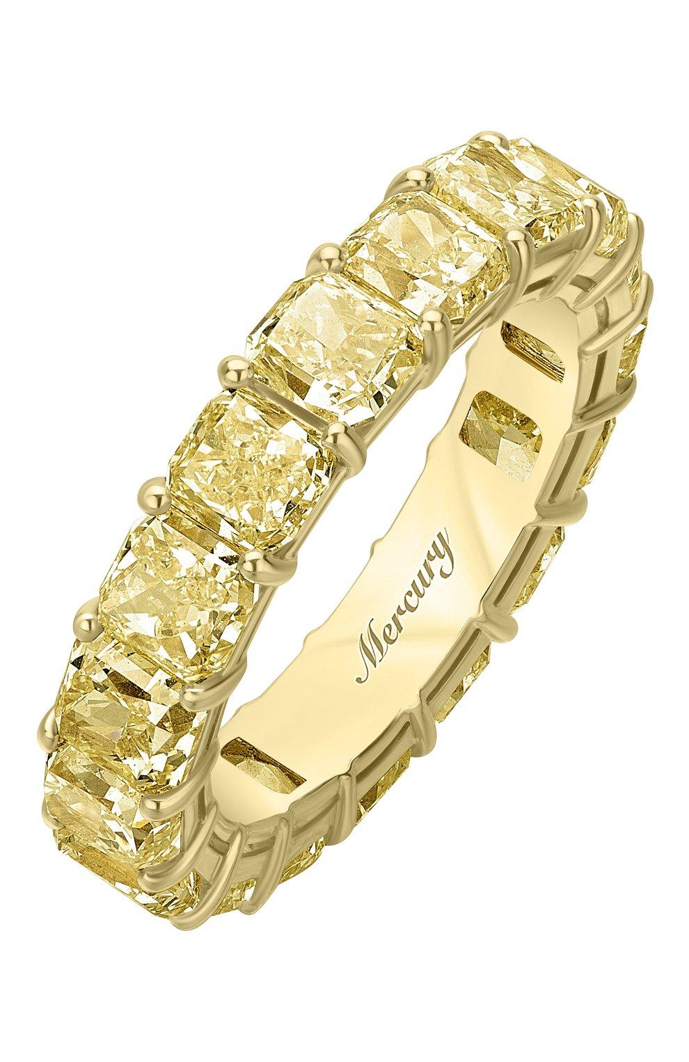 Женские кольцо MERCURY бесцветного цвета, арт. MR23511/YG/1YD0.20 | Фото 1
