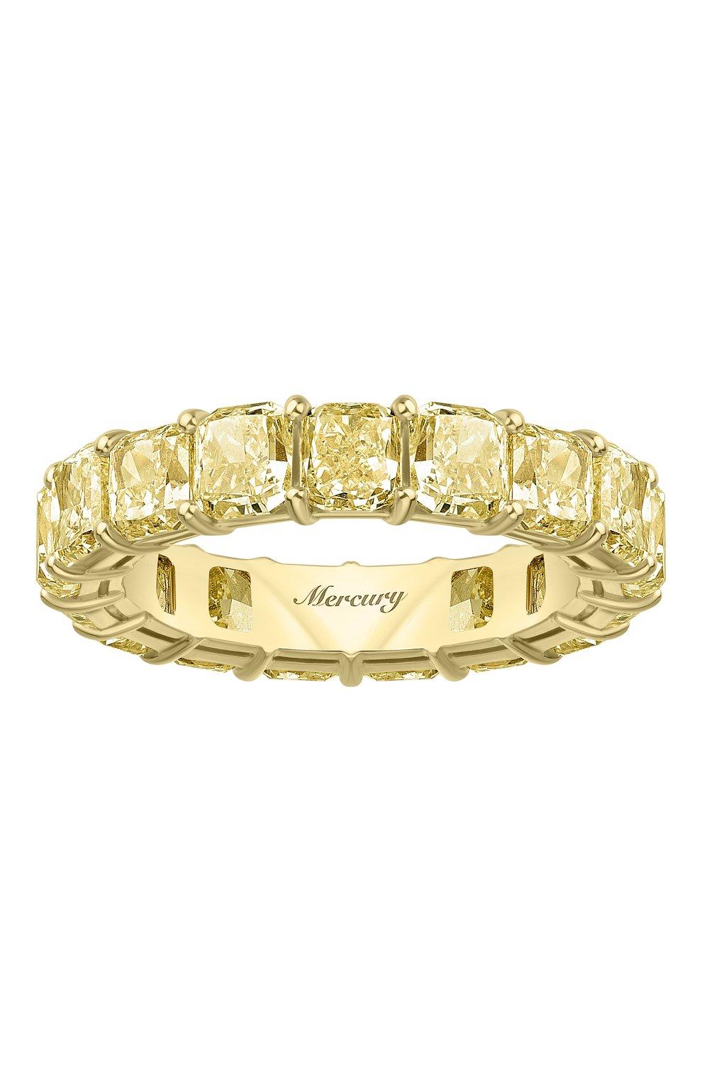 Женские кольцо MERCURY бесцветного цвета, арт. MR23511/YG/1YD0.20 | Фото 2