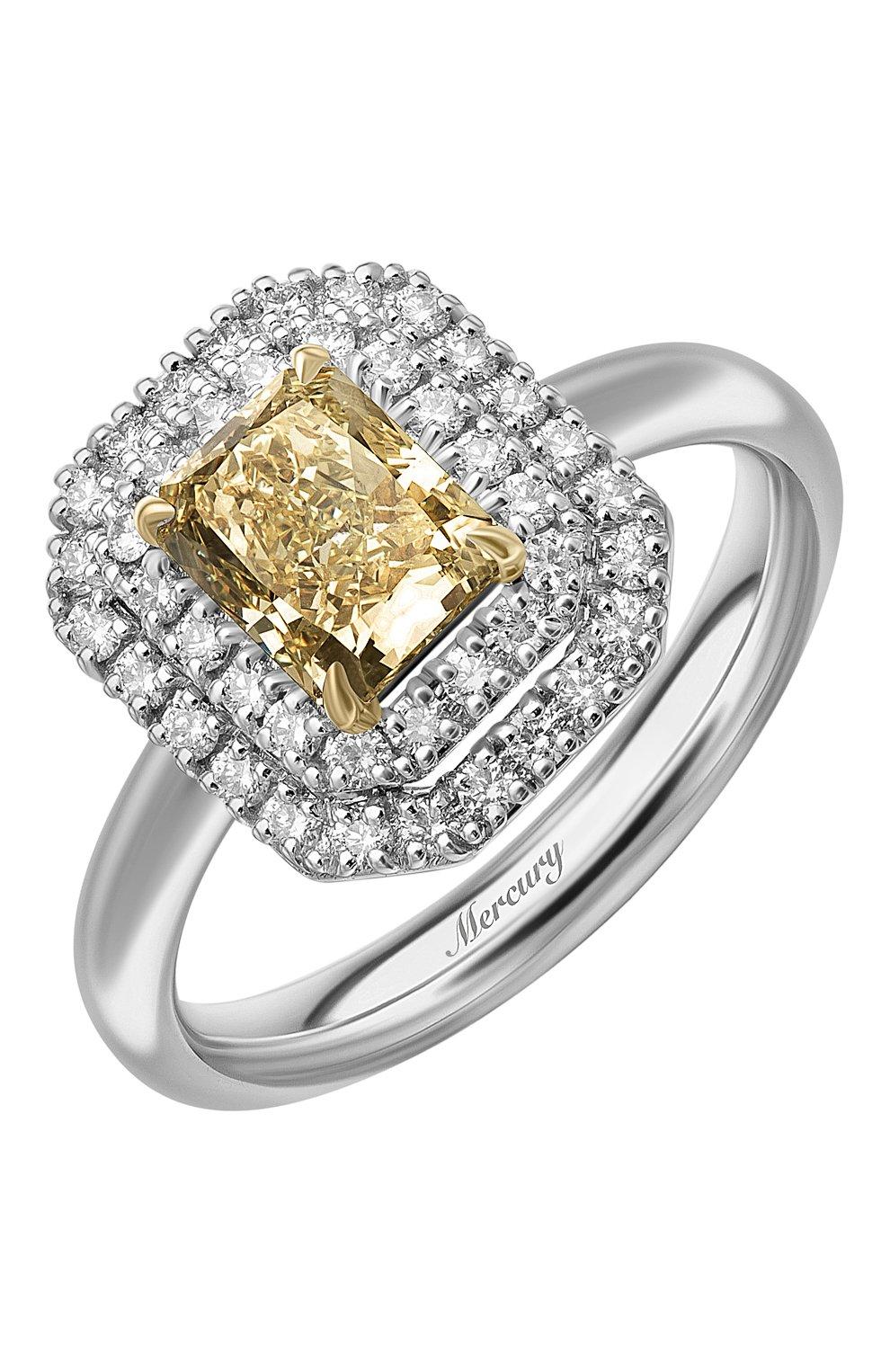 Женские кольцо MERCURY бесцветного цвета, арт. MR24569WYD   Фото 1