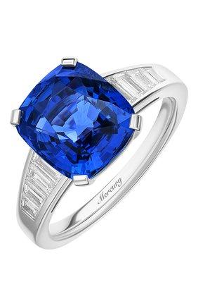Женские кольцо MERCURY бесцветного цвета, арт. MR24970WS | Фото 1 (Материал сплава: Белое золото; Драгоценные камни: Сапфиры)
