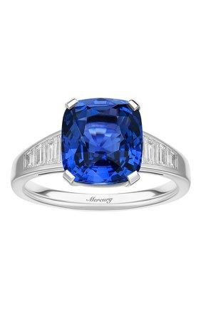 Женские кольцо MERCURY бесцветного цвета, арт. MR24970WS | Фото 2 (Материал сплава: Белое золото; Драгоценные камни: Сапфиры)