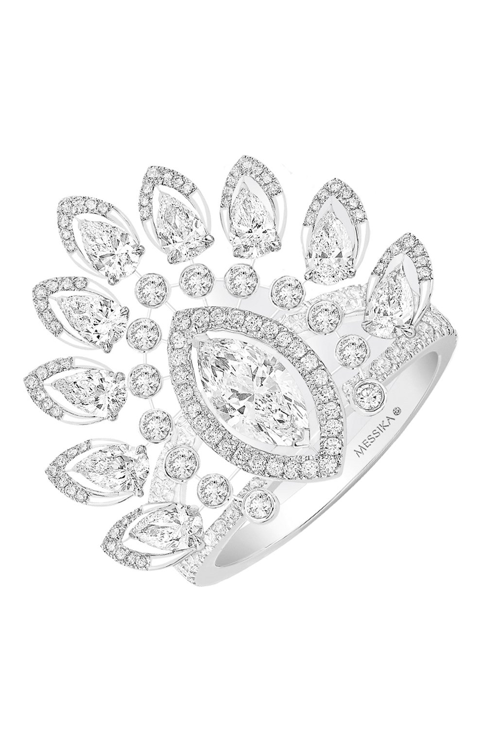 Женские кольцо MESSIKA белого золота цвета, арт. 07487-WG | Фото 1
