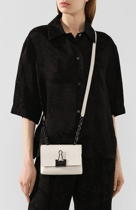 Женская сумка soft small OFF-WHITE белого цвета, арт. 0WNA121T20LEA0010100 | Фото 2