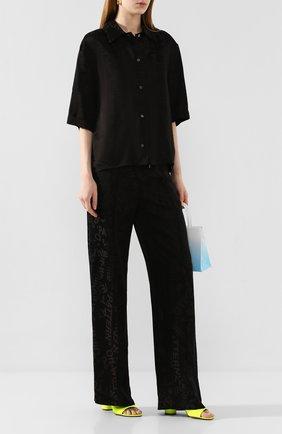 Женские брюки OFF-WHITE черного цвета, арт. 0WCH005T20FAB0011008   Фото 2