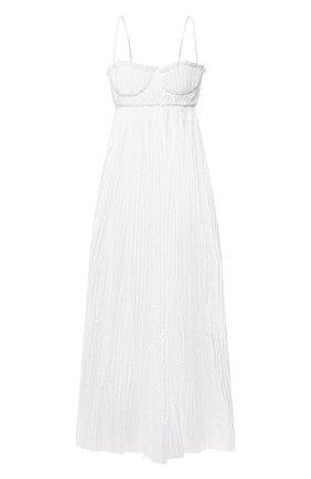 Женское хлопковое платье KHAITE белого цвета, арт. 5133108/J0RDYN | Фото 1