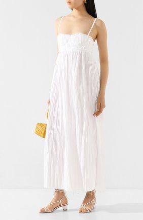 Женское хлопковое платье KHAITE белого цвета, арт. 5133108/J0RDYN | Фото 2