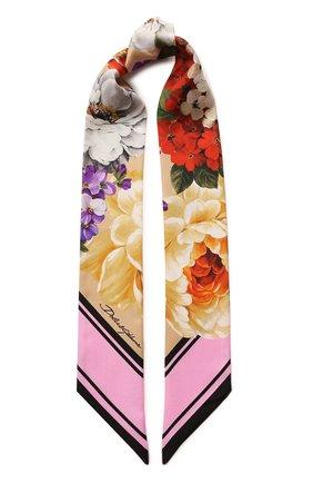 Женский шелковый платок DOLCE & GABBANA бежевого цвета, арт. FS215A/GDS52 | Фото 1