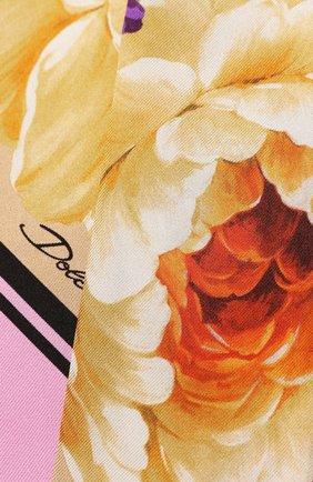 Женский шелковый платок DOLCE & GABBANA бежевого цвета, арт. FS215A/GDS52 | Фото 2