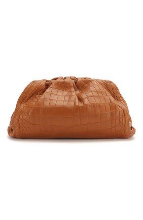 Женский клатч pouch из кожи крокодила BOTTEGA VENETA оранжевого цвета, арт. 576227/VB003/CP0R | Фото 1