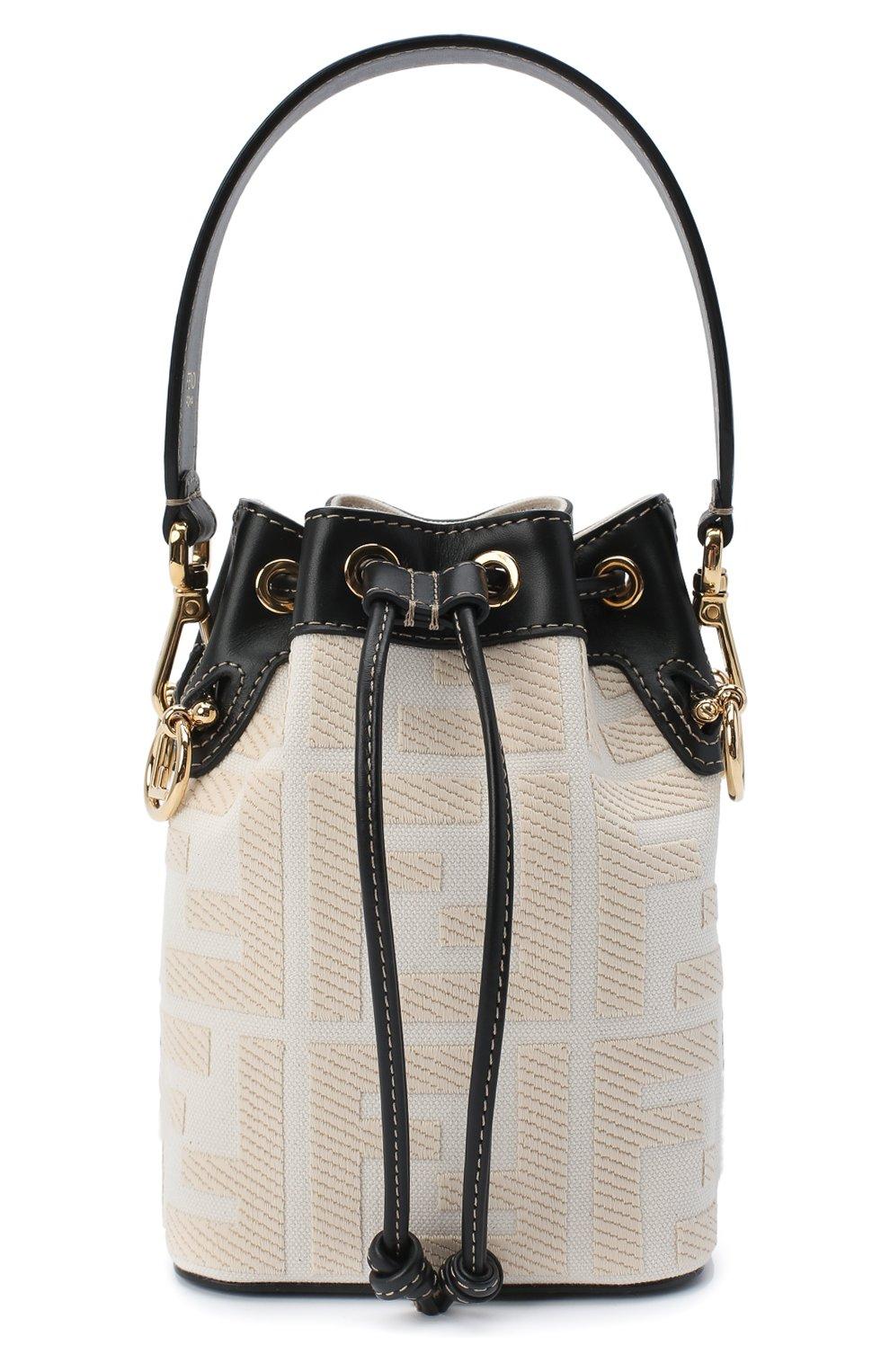 Женская сумка mon tresor FENDI белого цвета, арт. 8BS010 A9P6 | Фото 1
