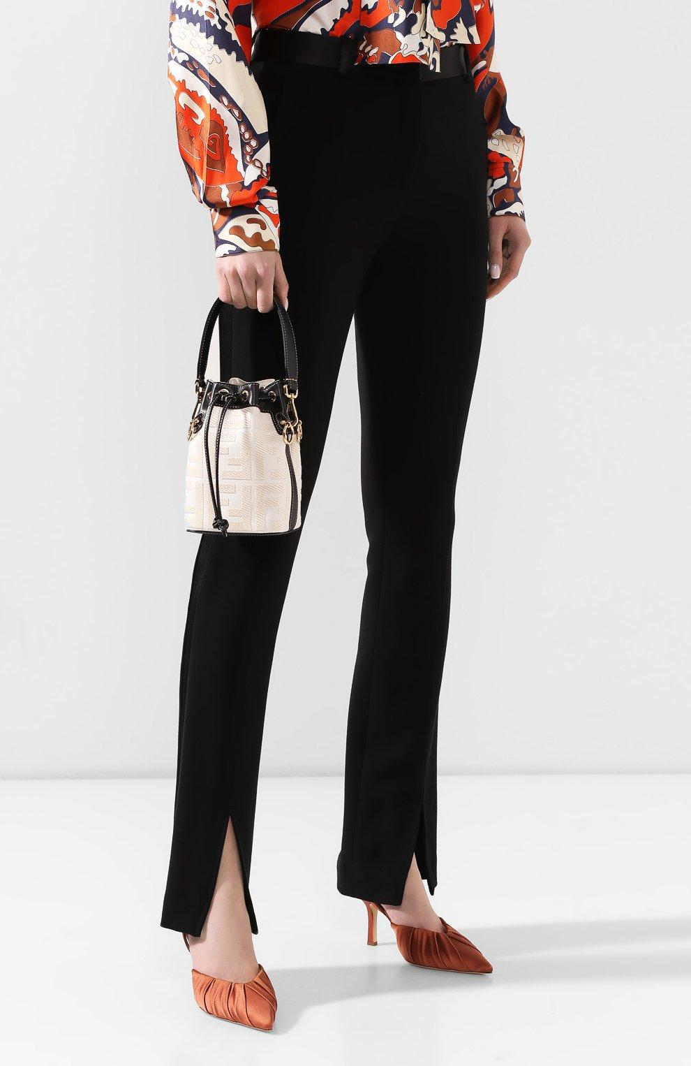 Женская сумка mon tresor FENDI белого цвета, арт. 8BS010 A9P6 | Фото 2