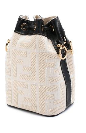 Женская сумка mon tresor FENDI белого цвета, арт. 8BS010 A9P6 | Фото 3