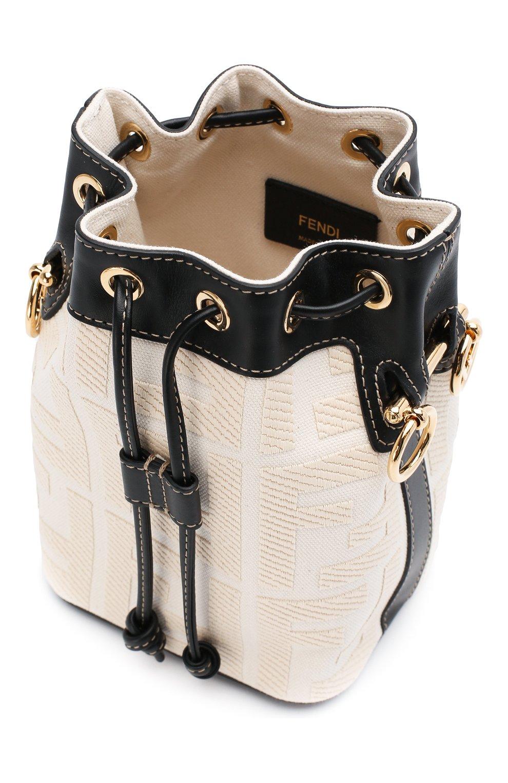 Женская сумка mon tresor FENDI белого цвета, арт. 8BS010 A9P6 | Фото 4