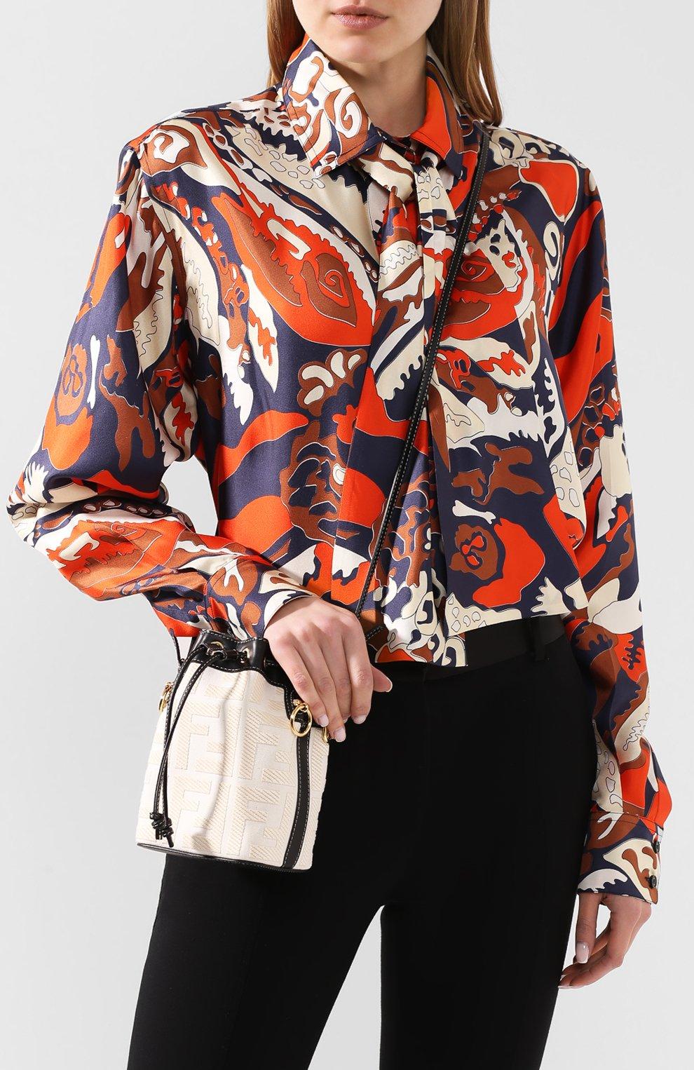Женская сумка mon tresor FENDI белого цвета, арт. 8BS010 A9P6 | Фото 5