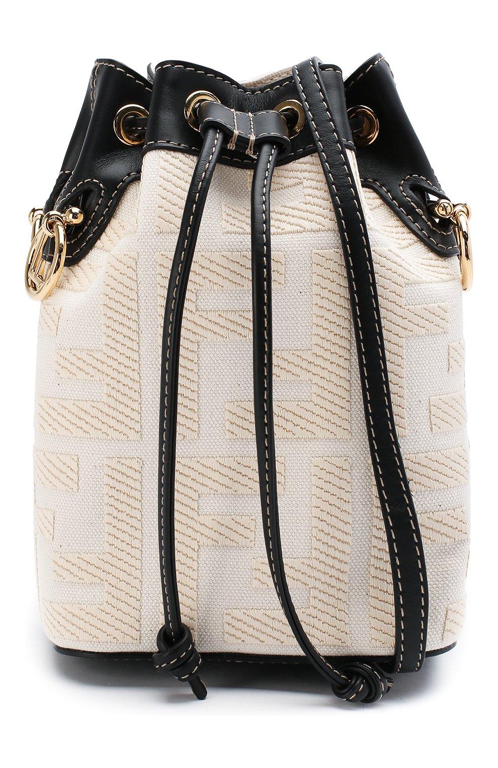 Женская сумка mon tresor FENDI белого цвета, арт. 8BS010 A9P6 | Фото 6