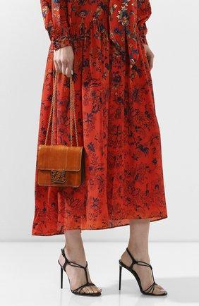 Женская сумка kalligraphy FENDI оранжевого цвета, арт. 8BT317 A9P1 | Фото 2