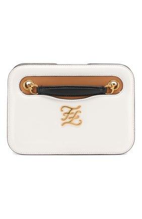 Женская сумка karligraphy FENDI белого цвета, арт. 8BT318 AAFF | Фото 1