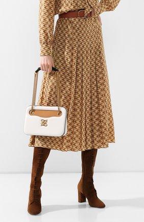 Женская сумка karligraphy FENDI белого цвета, арт. 8BT318 AAFF | Фото 2