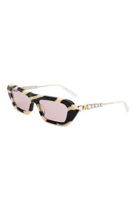 Мужские солнцезащитные очки GUCCI черно-белого цвета, арт. 610398/J0770 | Фото 1