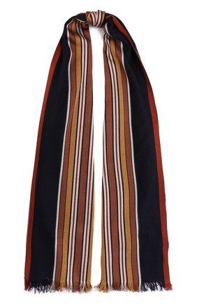 Мужские шарф из смеси шелка и кашемира LORO PIANA темно-синего цвета, арт. FAL1202   Фото 1