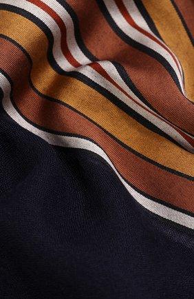 Мужские шарф из смеси шелка и кашемира LORO PIANA темно-синего цвета, арт. FAL1202   Фото 2