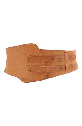 Женский кожаный ремень FORTE_FORTE бежевого цвета, арт. 7353 | Фото 1