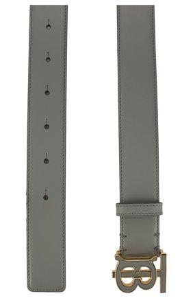 Женский кожаный ремень BURBERRY серого цвета, арт. 8027790 | Фото 2