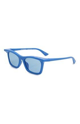 Мужские солнцезащитные очки BALENCIAGA синего цвета, арт. 621647/T0003 | Фото 1