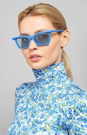 Мужские солнцезащитные очки BALENCIAGA синего цвета, арт. 621647/T0003 | Фото 2