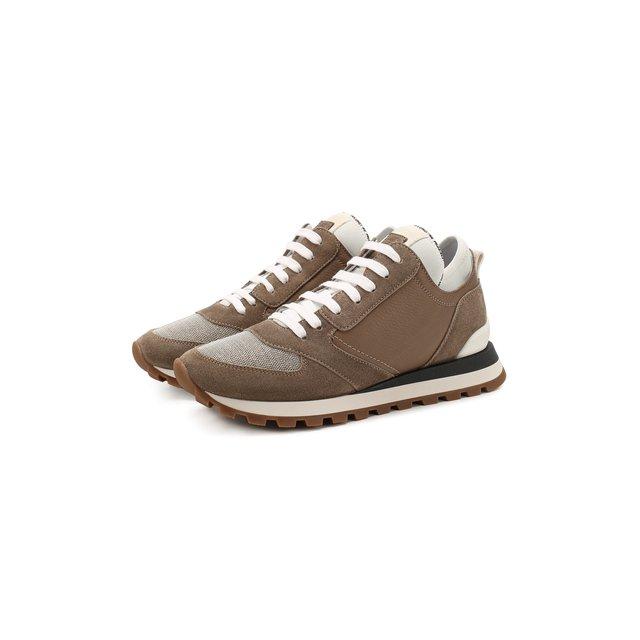Кожаные кроссовки Brunello Cucinelli — Кожаные кроссовки