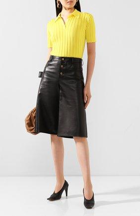Женская кожаные туфли BOTTEGA VENETA черного цвета, арт. 618782/VBTC0 | Фото 2