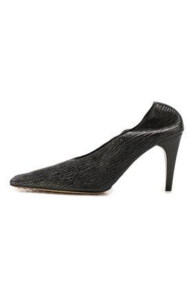 Женские кожаные туфли BOTTEGA VENETA черного цвета, арт. 618782/VBTC0   Фото 3