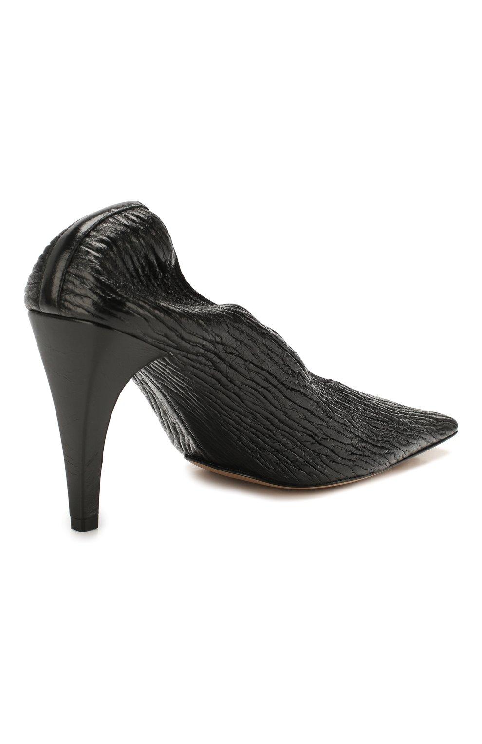 Женские кожаные туфли BOTTEGA VENETA черного цвета, арт. 618782/VBTC0   Фото 4