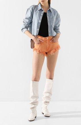 Женские кожаные ботфорты saliza ISABEL MARANT белого цвета, арт. SALIZA/CD0025-20E003S | Фото 2