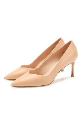 Женская кожаные туфли STUART WEITZMAN бежевого цвета, арт. S3745 | Фото 1