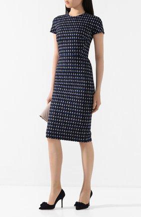 Женская замшевые туфли STUART WEITZMAN темно-синего цвета, арт. S6122 | Фото 2