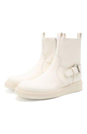 Женские кожаные ботинки ANN DEMEULEMEESTER белого цвета, арт. 2001-2808-356-001 | Фото 1