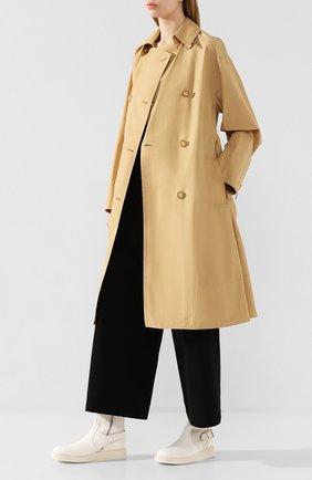 Женские кожаные ботинки ANN DEMEULEMEESTER белого цвета, арт. 2001-2808-356-001 | Фото 2