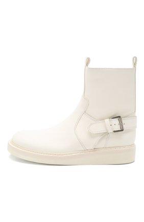 Женские кожаные ботинки ANN DEMEULEMEESTER белого цвета, арт. 2001-2808-356-001 | Фото 3